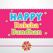 stock photo of rakhi  - Beautiful greeting card design with colorful rakhi on pink and grey background - JPG