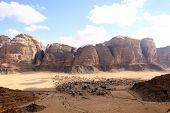 picture of jabal  - Beautiful view of the wadi rum in Jordan - JPG