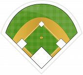 picture of hitter  - An Illustration of a Baseball Field Sticker - JPG