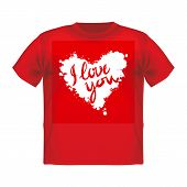 pic of t-shirt red  - T - JPG
