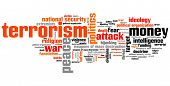pic of terrorism  - Terrorism issues and concepts word cloud illustration - JPG