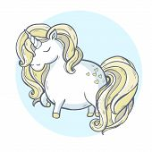 picture of unicorn  - Vector illustration - JPG