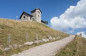 stock photo of chapels  - Chapel on the top of Mt - JPG