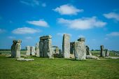 foto of stonehenge  - View at the Stonehenge at sunny day - JPG