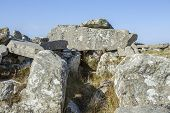 picture of megaliths  - A close up of the 5000 year old Cloughanmore megalithic court tomb in Glencolmcille - JPG