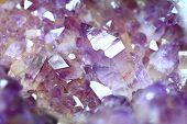 image of minerals  - amethyst gemstone mineral as nice natural background - JPG