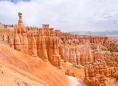 pic of hoodoo  - Red hoodoo rocks in Bryce Canyon National park Utah USA - JPG