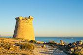 image of costa blanca  - Old watchtower on the Mediterranean coast Costa Blanca Spain - JPG