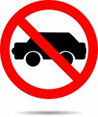 picture of banned  - Ban cars sign flat icon - JPG