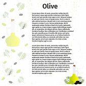 pic of olive branch  - Vector illustration - JPG