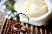 stock photo of jewelry  - two wedding rings - JPG