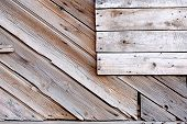 image of wainscoting  - Old planks with copyspace diagonal and horizontal lines - JPG