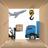 stock photo of crane hook  - Shipping Concept - JPG