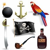 Постер, плакат: Vector Pirate Icons Set 2