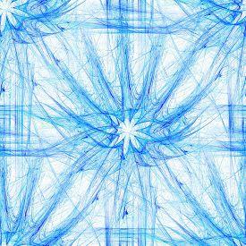 picture of plasmatic  - Seamless floral motif in blue spectrum - JPG