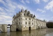 Panoramic View Of Castel And Garden Of Chenonceau During The Summer Day poster