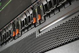 pic of raid  - Computer Server and raid storage in datacenter - JPG