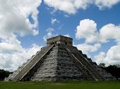 image of ziggurat  - the ancient ziggurat of chichen itza at mexico - JPG