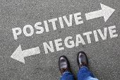Negative Positive Thinking Good Bad Thoughts Attitude Business Concept Decision Decide poster