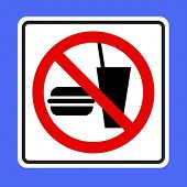 No food no drinks sign-VECTOR