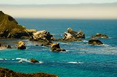 picture of pch  - Fog Rolls in on Rocky California Coastline