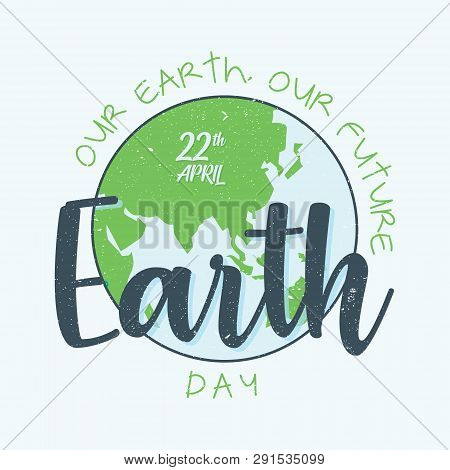 Abstract Letter Earth Day With