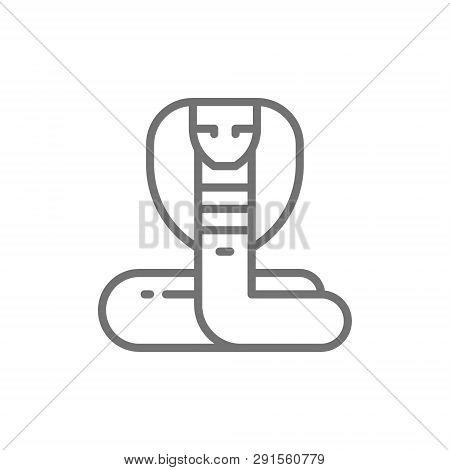 Cobra Snake Line Icon Isolated