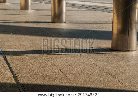 Bangkok Sidewalk Walkway To Bts