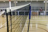 Volleyball Court, Net And Ball, Sports Volleyball Arena poster