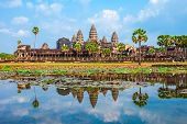 Angkor Wat Temple In Siem Reap In Cambodia. Angkor Wat Is The Largest Religious Monument In The Worl poster