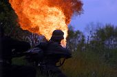 stock photo of flamethrower  - KIEV  - JPG