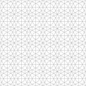 Seamless Pattern. Geometrical Linear Texture. Repeating Thin Broken Lines, Polygons, Hexagons, Diffi poster