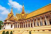 The Royal Palace Is The Royal Residence Of The King Of Cambodia In Phnom Penh In Cambodia poster