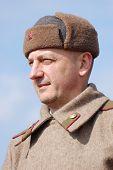 stock photo of vinnitsa  - Person in Soviet WW2 uniform - JPG
