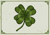 Vintage Green Lucky Clover poster