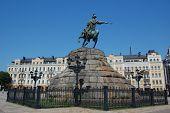 foto of bohdan  - Monument of famous Ukranian Hethman Bogdan Khmelnitsky in Kiev - JPG