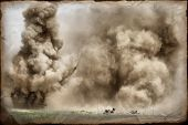 stock photo of ww2  - Explosion - JPG