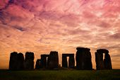 Stonehenge, One Of The Wonders Of The World And The Best-known Prehistoric Monument In Europe, Locat poster