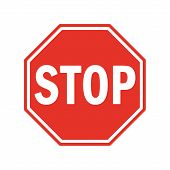 Vector Stop Sign Icon. Red Stop Sign For Your Web Site Design, Logo, App, Ui. Stop Traffic Symbol. T poster
