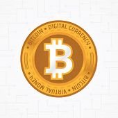 Golden Bit-coin Coin poster