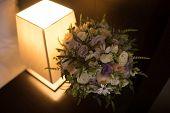 Bouquet Of Flowers. The Brides Bouquet. Bridal Bouquet. Floristics. Wedding Rings. Wedding Bouquet  poster