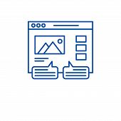 User Reviews Line Icon Concept. User Reviews Flat  Vector Symbol, Sign, Outline Illustration. poster