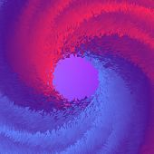 Abstract 3d Circle Blend Background. Abstract Wave Cover With Vibrant Gradient. Abstract Circle Back poster
