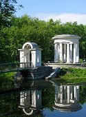 picture of ekaterinburg  - rotunda on the pond - JPG