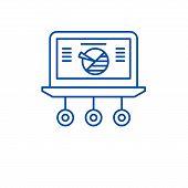 Market Statistics Line Icon Concept. Market Statistics Flat  Vector Symbol, Sign, Outline Illustrati poster