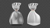 Plastic Sachet Vector. Transparent Bag Wrap. Empty Product Polyethylene Mock Up Template. Nylon Doy  poster