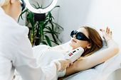 Smooth Skin Under The Arms. Woman On Laser Hair Removal poster