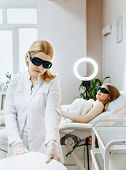 Laser Epilation And Cosmetology. Hair Removal Cosmetology Procedure. Laser Epilation And Cosmetology poster