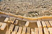 foto of gethsemane  - Ancient Jewish cemetery on the Mount of olives in Jerusalem - JPG