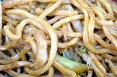 image of lo mein  - lo mein chinese food close up background - JPG
